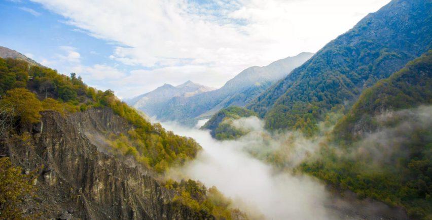 Красоты горных курортов в Габала
