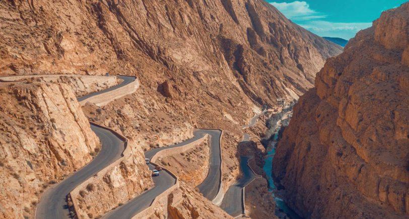 Marocco_Atlas mountains_Dades gorge_road