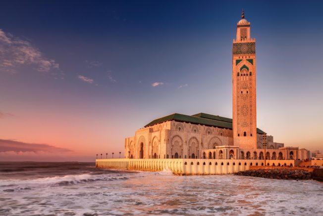 Marocco_Casablanca_Atlantic Ocean_Hassan II Mosque_