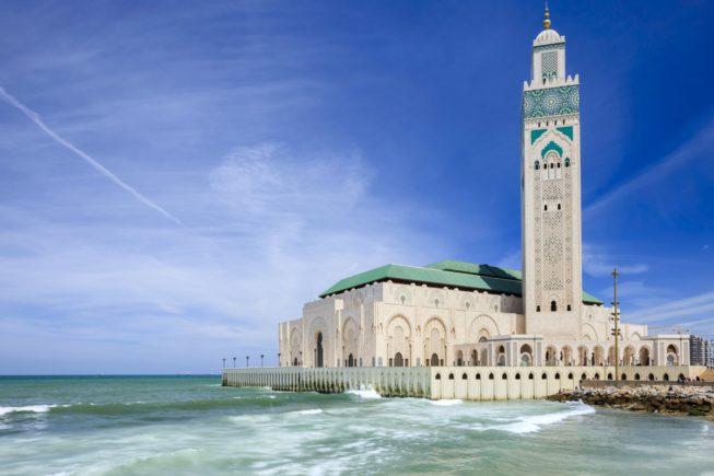 На краю океана Мечеть Хасана II